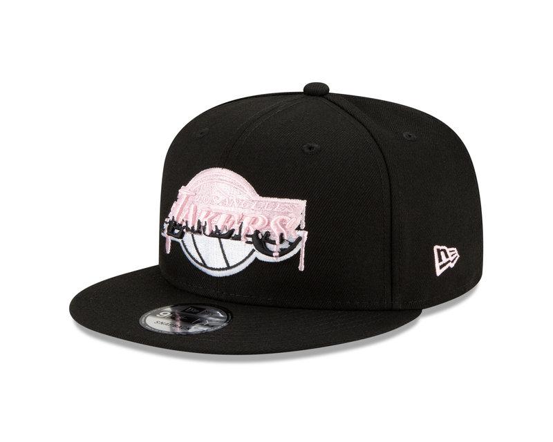 New Era New Era LA Lakers Pink Drip 217x Champions Side Patch 9Fifty Snapback