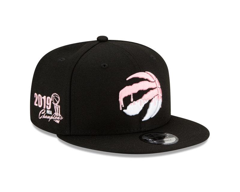 New Era New Era Toronto Raptors Pink Drip 2019 Champions Side Patch 9Fifty Snapback