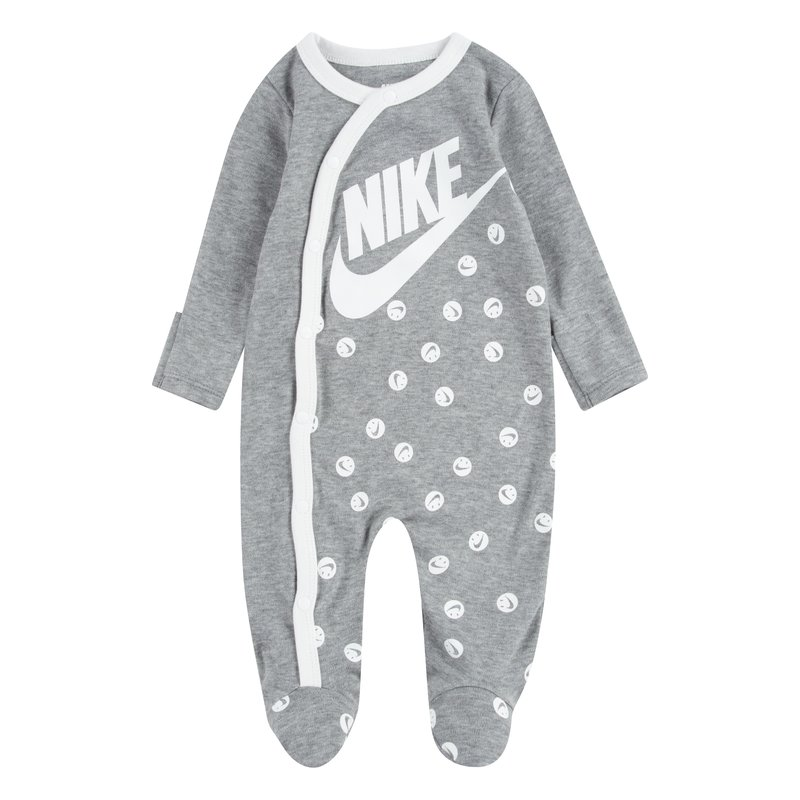 Nike Nike Kid's AOP Smiley Footed Coverall 'Heather Grey' 56D679 042