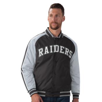 Starter Raiders Varsity Jacket Black-White LA100696