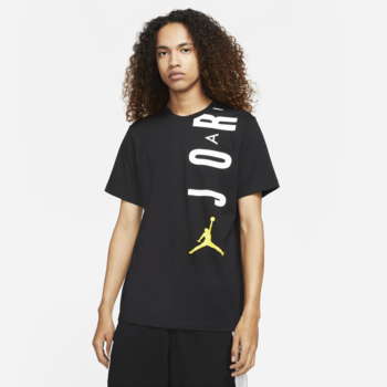 Air Jordan Air Jordan Men's Stretch Jumpman Tee Black/Yellow-white CZ8402 012