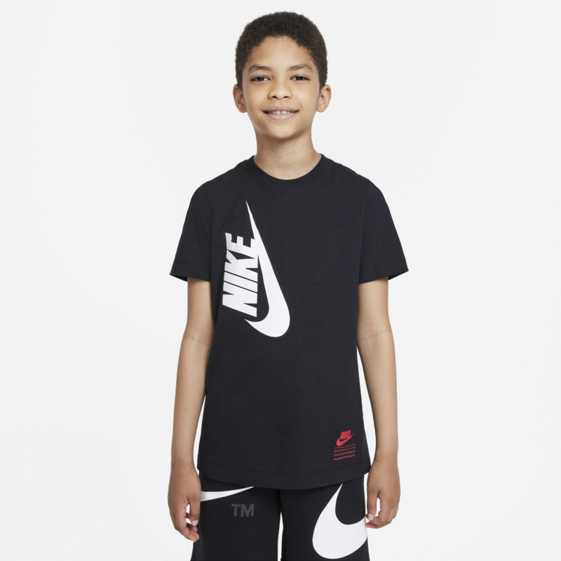 Nike Nike  Boys Sportswear T-shirt Black/White DJ6612 010