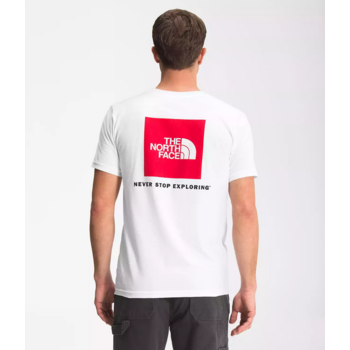 THE NORTH FACE The North Face Men's Short Sleeve Box NSE Tee White/Red NF0A4763FN4
