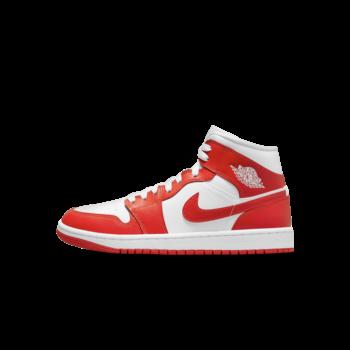 Air Jordan Womens Air Jordan 1 Mid White Habanero Red BQ6472 116