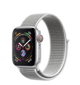Apple Apple Watch Series 4 GPS + Cellular, 40mm Silver Aluminum Case with Seashell Sport Loop