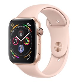 Apple Apple Watch Series 4 GPS, 44mm Gold Aluminum Case with Pink Sand Sport Band