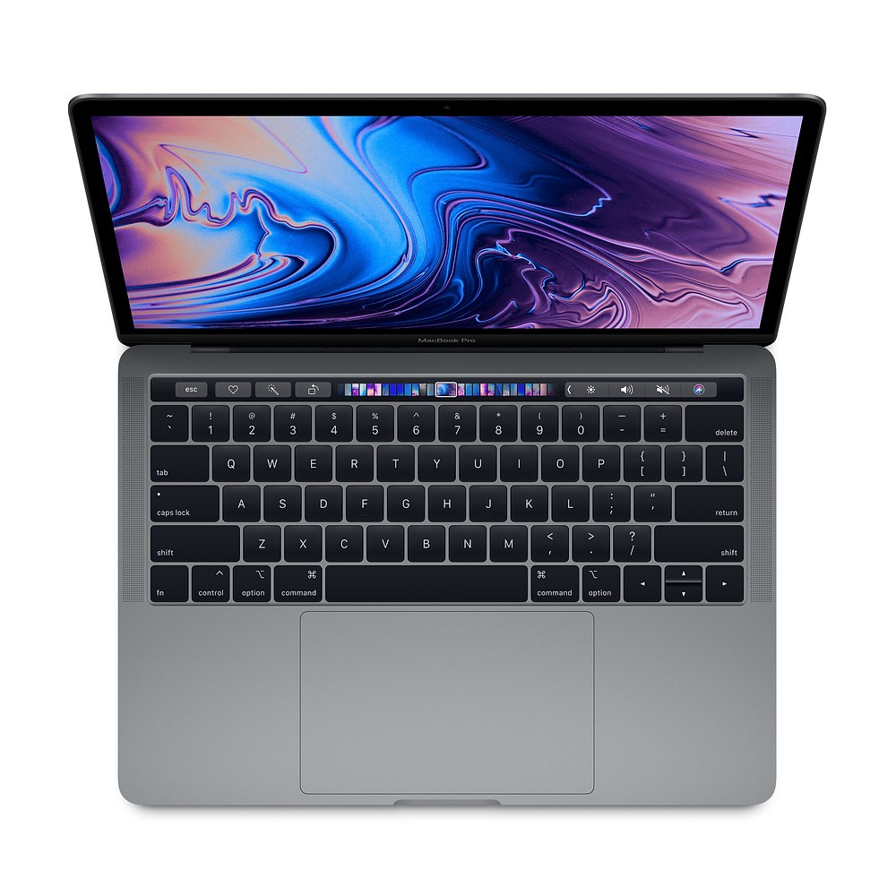 Apple 13-inch MacBook Pro with Touch Bar: 1.4GHz quad-core 8th-generation Intel Core i5 processor, 8GB 2133MHz LPDDR3 memory, 128GB Space Gray