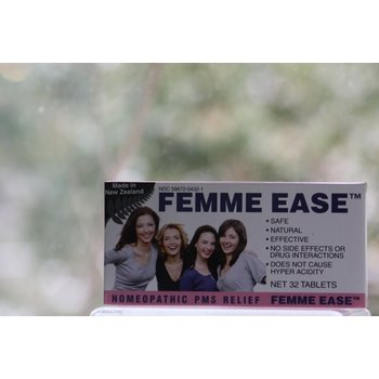 ApothEssence LifeStyle Enhancement- Bath, Body, Home & Health Femme Ease Homeopathic Remedy 32 Tablet Blister Pack