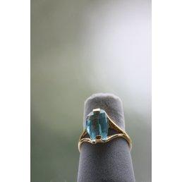 Jewelry & Adornments Ring, Topaz CZ in gold, sz 8.5