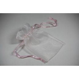 Jewelry & Adornments Bag, Sheer Light Pink, Medium