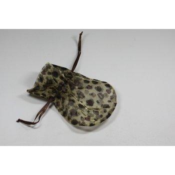 Jewelry & Adornments Bag, Sheer Lepard, Medium