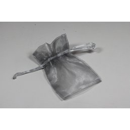 Jewelry & Adornments Bag, Sheer Grey, Small
