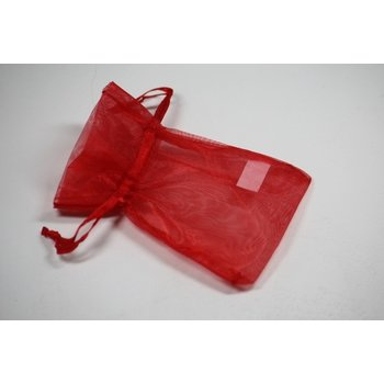 Jewelry & Adornments Bag, Sheer Red, Small
