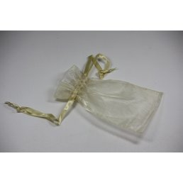 Jewelry & Adornments Bag, Sheer Gold, Small