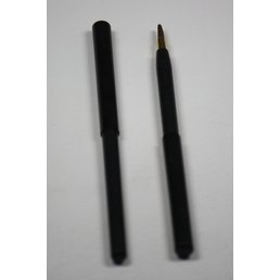 Cosmetics Retractable Lip Brush Black