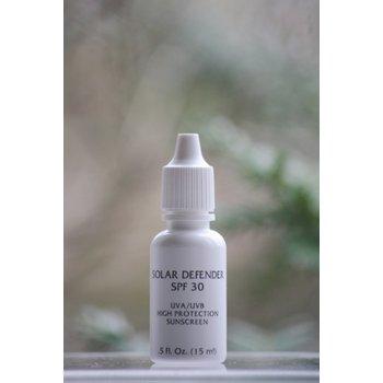 Skin Care Solar Defender SPF 30 UVA/UVB High Protection Sunscreen - .5 oz. ~ 5 day-trial size