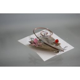 Jewelry & Adornments Pin, Metal 2 tone Heart