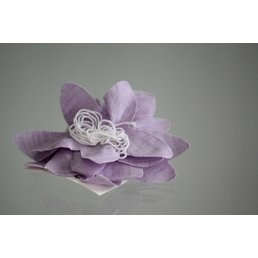 Jewelry & Adornments Pin, Lavender Fabric Flower