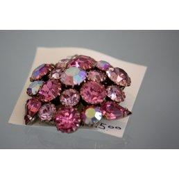 Jewelry & Adornments Pin, Pink Rhinestone, Vintage