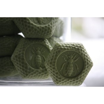 ApothEssence LifeStyle Enhancement- Bath, Body, Home & Health Apiana Calendula Bee Soap, Green bar 3.5 oz.