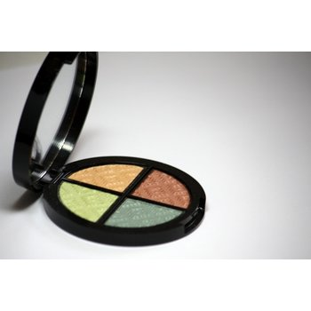 Cosmetics *Goddess Dry Pressed Powder Eye Shadow Quad, Mirror Compact .25 oz, Discontinued item - last stock available