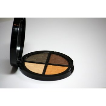 Cosmetics *Nouveau Riche Dry Pressed Powder Eye Shadow Quad, Mirror Compact .25 oz, Discontinued item - last stock available