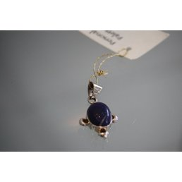 Jewelry & Adornments Pendant, Sterling Silver Lapis