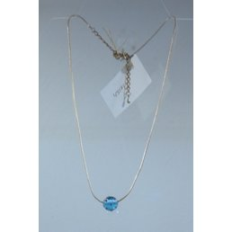 Jewelry & Adornments Necklace, Silver/Blue Bead