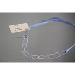 Jewelry & Adornments Necklace, Blue Ribbon Bead