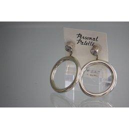 Jewelry & Adornments Earring, Sterling Silver/Rhinestone