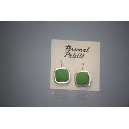 Jewelry & Adornments Earring, Sterling Silver Green