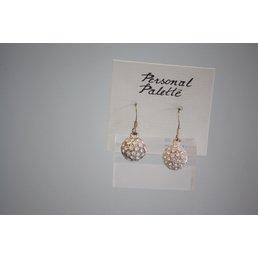 Jewelry & Adornments Earring, Silver/Rhinestone Balls