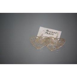 Jewelry & Adornments Earring, Sterling Silver Filagree Heart Dangle