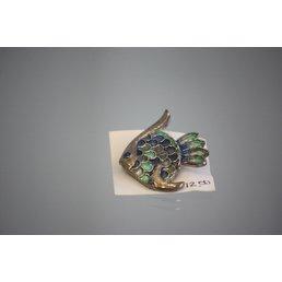 Jewelry & Adornments Pin, Fish/Blue