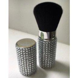Cosmetics Retractable Rhinestone Brush - Silver