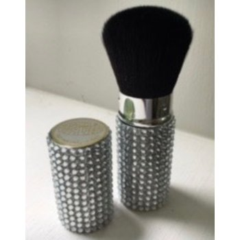 Cosmetics Retractable Rhinestone Brush - Silver