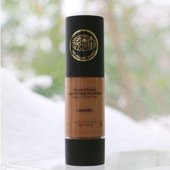Cosmetics Natural, Organic Liquid Mineral Foundation - Caramel - <br />Vegan & Gluten Free, 1 FL Oz / 30ml
