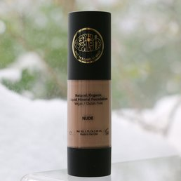 Cosmetics Natural, Organic Liquid Mineral Foundation - Nude -<br />