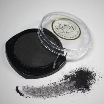 Cosmetics Black Matte Dry Pressed Powder Eye Shadow (B25), .14 oz