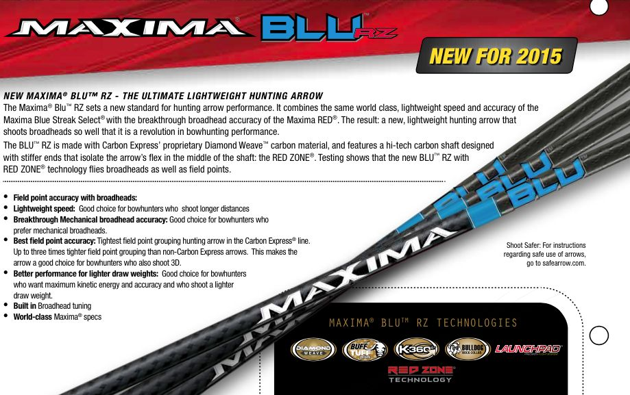 Carbon Express CX Maxima Blu RZ Shafts