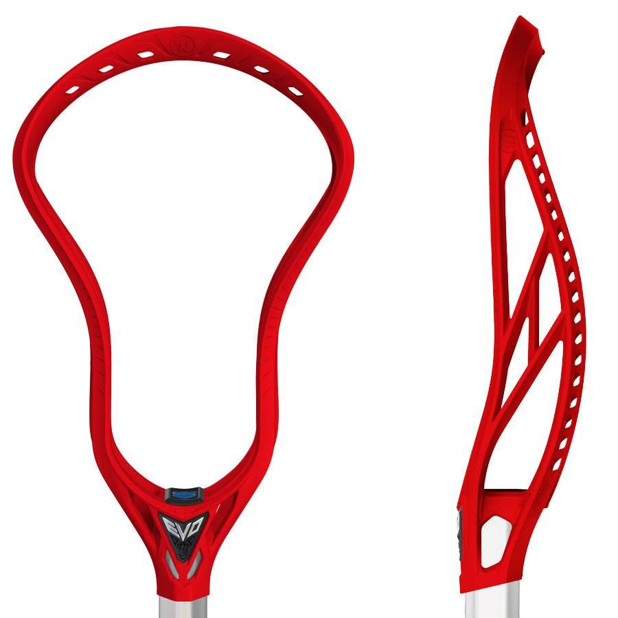 89c9bf39374 Warrior Warrior Evo 5 X Red Unstrung Lacrosse Head - Chex Sports