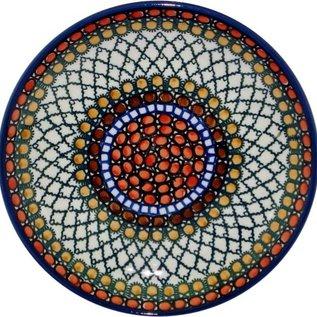 Ceramika Artystyczna Dinner Plate Geometric Amber Signature