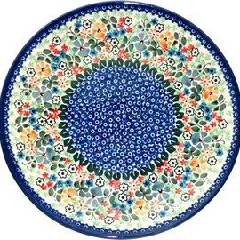 Ceramika Artystyczna Dinner Plate Butterfly Gardens Signature