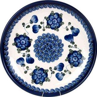 Ceramika Artystyczna Dinner Plate Blue Rose