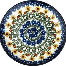 Ceramika Artystyczna Dinner Plate Summer Sunflowers