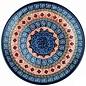 Ceramika Artystyczna Dinner Plate Nautilus Red