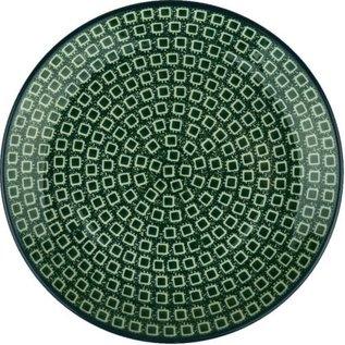 Ceramika Artystyczna Dinner Plate Green Cubix