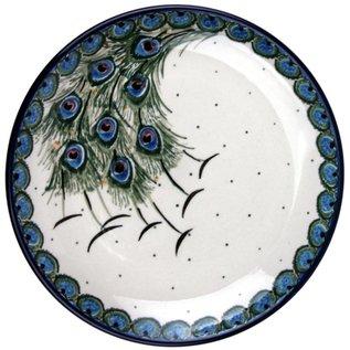 Ceramika Artystyczna Dinner Plate Peacock Feather Train