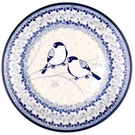 Ceramika Artystyczna Dinner Plate Chickadee Signature 3.5
