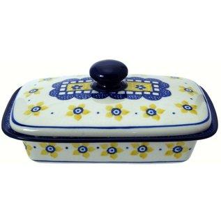 Ceramika Artystyczna Flat Butter Dish Soho Garden
